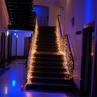 Led Waterfall Light Icicle Stripe Window Curtain Fairy ...