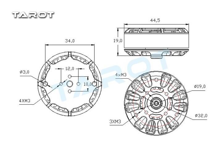 F17601 Tarot 4008 Martin RC Brushess Motor /TL2955 RC