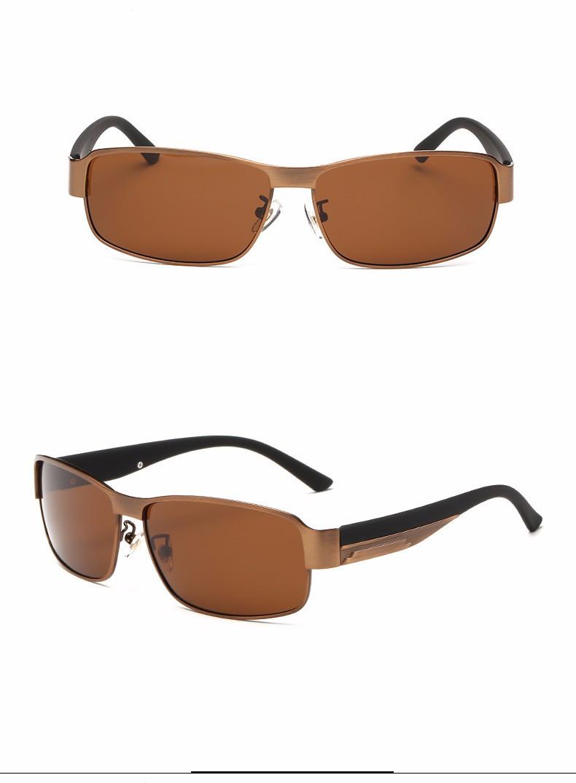 ₩Alliage lunettes de Soleil Polarisées Hommes Conduite Lunettes De ... dd5723a98b1f