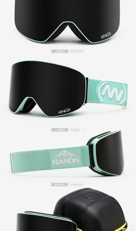 2d912e65be40c Nandn marca más nuevos gafas profesionales de esquí doble lente UV400 anti- niebla adultos snowboard esquí Gafas mujer hombres gafas de nieve