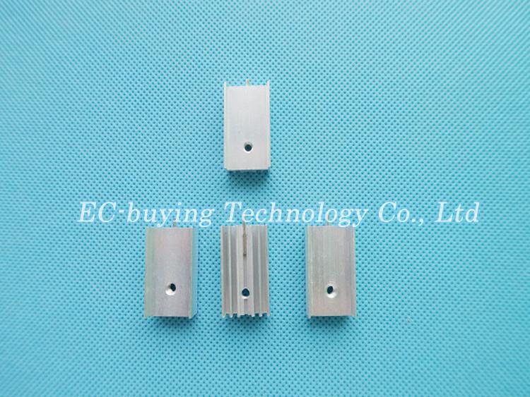 50 unids 25x15x10mm disipador de aluminio del disipador de calor con ...