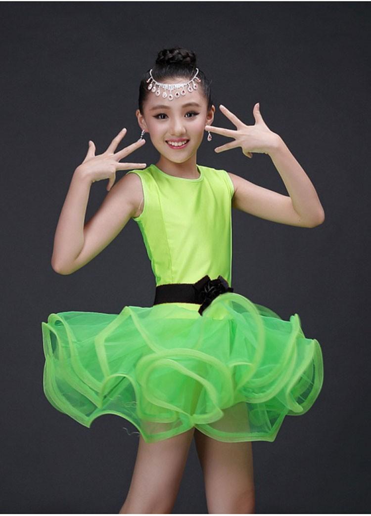 Girls latine vêtements costumes gilet et pantalon Tassel Dance Wear Enfants effectuer