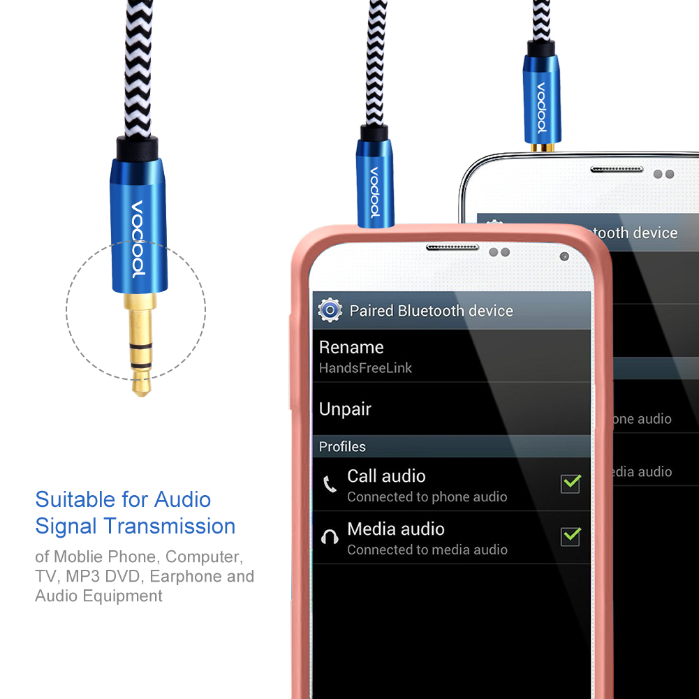 Vodool 2m Nylon Braided Male To Audio Cable 35 Mm Aux Wire 6r All Model Years Gt 20032004 Zx6r Anyone Wired In Remote Start Tangle Free 35mm Stereo Suitable For Signal Transmission Of Moblie Phone
