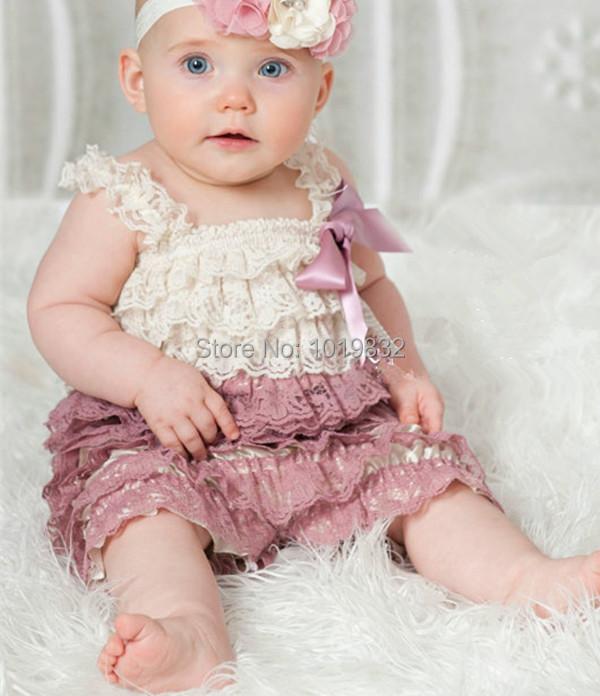 Aliexpress.com : Buy Baby Dusty Rose Lace Romper,Baby