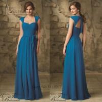 Vestido de Festa Blue Bridesmaid Dress Backless Detachable ...