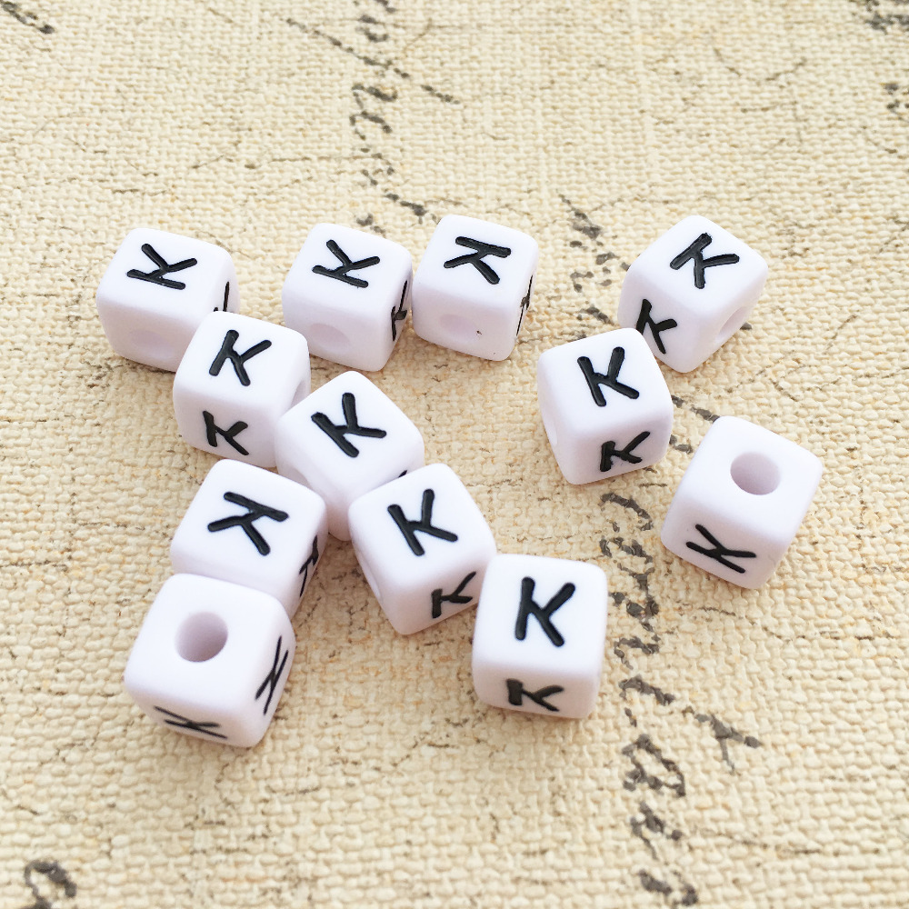 Jewelry & Accessories Free Shipping Single Letter Beads 6*6mm Cube Acrylic Gold Tone Letter O Printing Jewelry Alphabet Beads 2750pcs