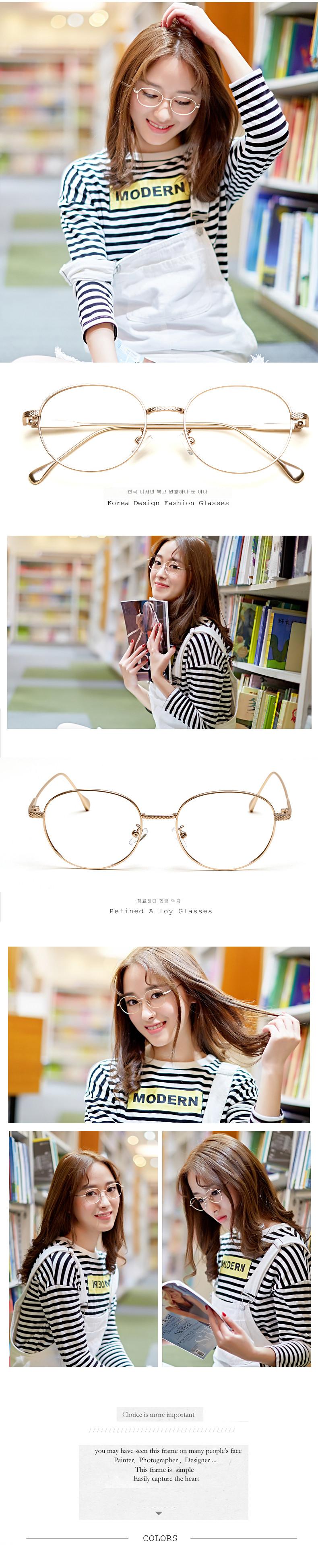 LIYUE Vintage Runde metallbrille Weibliche Brillenfassung männer ...