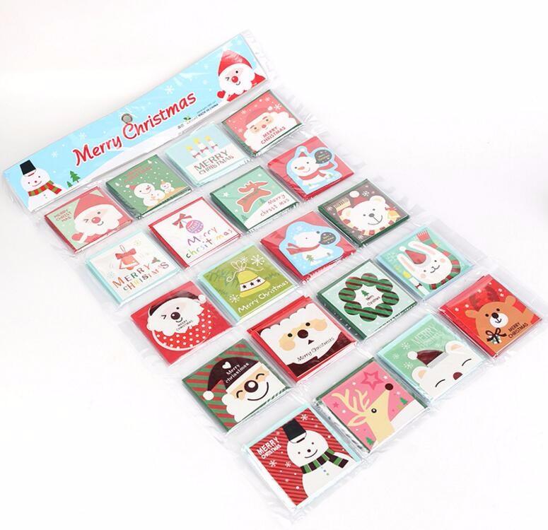 ᗑ140 unids/set feliz Navidad tarjeta de felicitación varios ...
