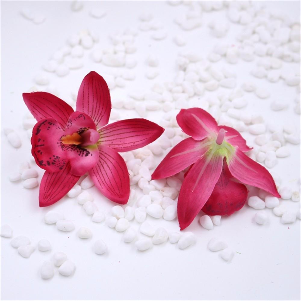 ③Free Shipping 5PCS artificial orchid head Cymbidium simulation ...