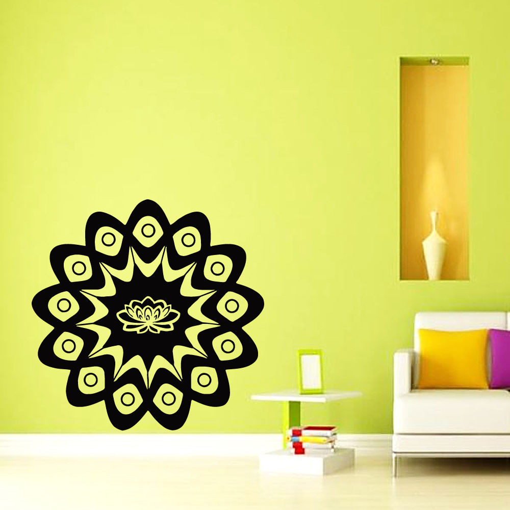 ᑎ‰2017 New Wall Decals Mandala Indian Flowers Yoga Om Sign Vinyl ...