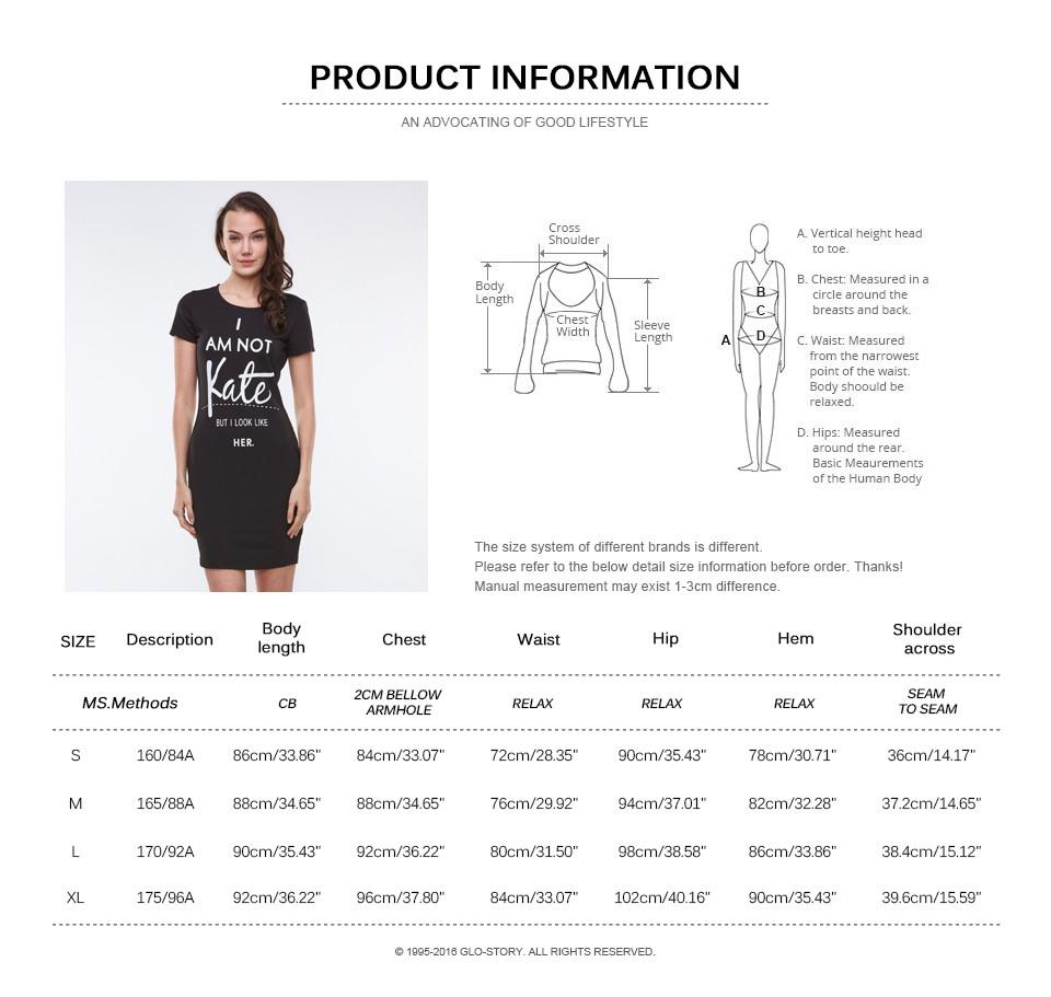 69c0fd0aeac8c ⊰GLO-STORY 2018 Nouveau arrivent Robe D été Imprimer Lettre Femmes ...