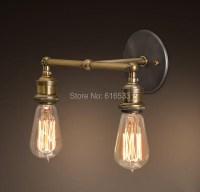 Nordic Loft Vintage Lustre Edison Double Wall Sconce Lamps ...