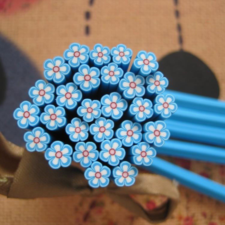 っ5pcs C-01 5mm Cute Flower Cane Fancy Nail Art Polymer Clay Cane ...