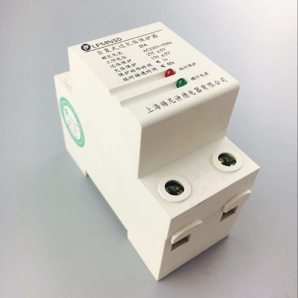 63a Self Shunt Over Voltage Protector Single Phase Delay Circuit Protection Breaker 220v