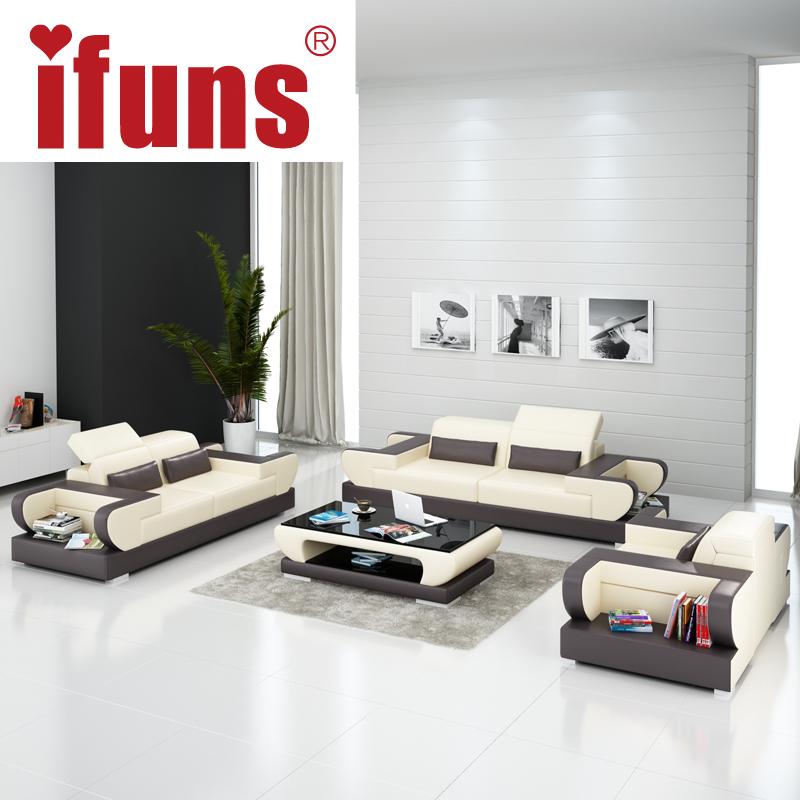 IFUNS modern design genuine leather sectional sofa,sofa