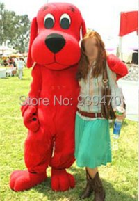 New Clifford the Big Red Dog costume adult plush mascot ...