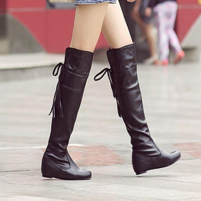 85e90f52f9bf KemeKiss Размеры 34–43 сапоги женская обувь симпатичного стиля с кисточками  по Зимние сапоги до колен теплые зимние ботинки женские обувь  разме.