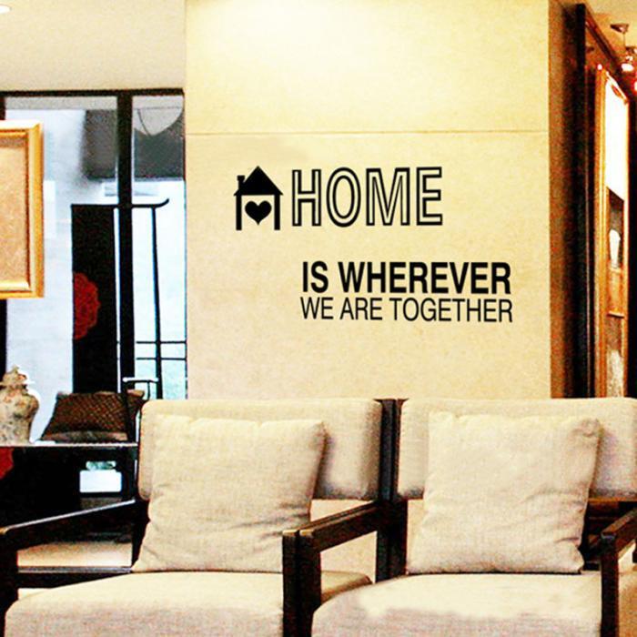 ツ)_/¯Black Letter Removable Wall Poster Bedroom Living Room Sofa ...