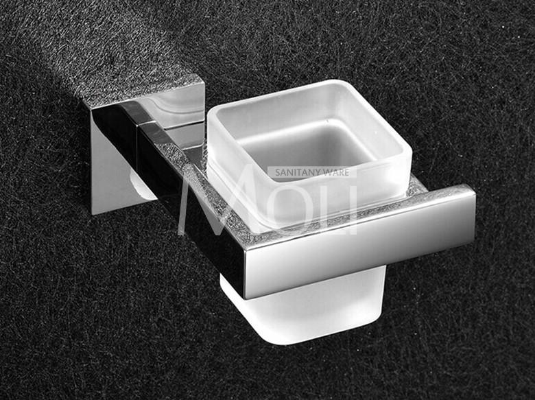 Badkamer Accessoires Rvs : ᑎu rvs badkamer tandenborstel houder enkele tumble houder met glas
