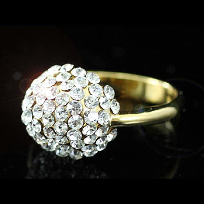 Peacock star bling cor prata, Bola Cor de ouro Anel usar Cristal Austríaco  CSR068 ea892541ef