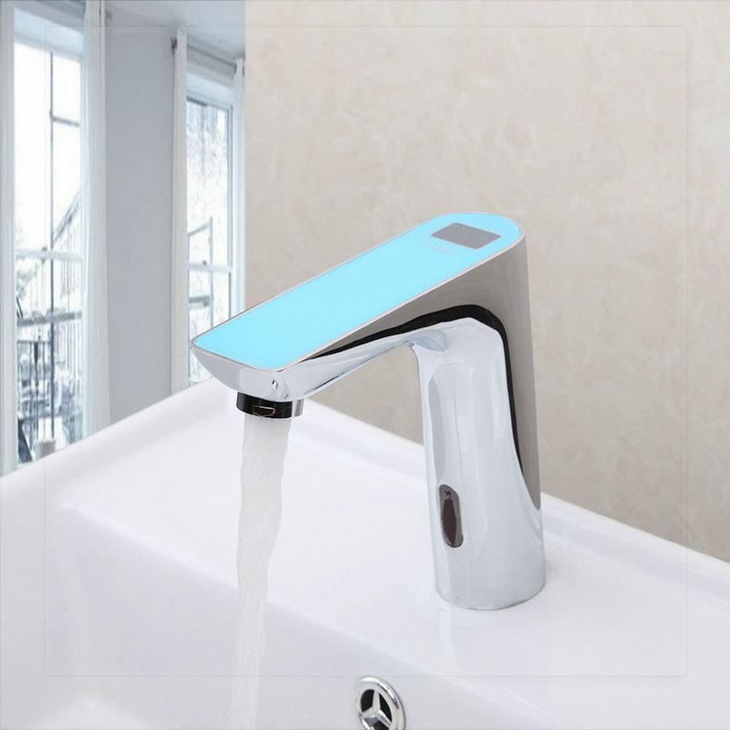 New Digital Display Bathroom Automatic Hands Touch Sensor
