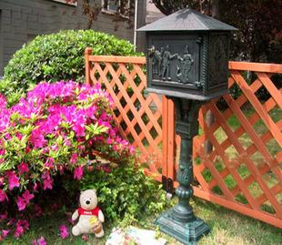 standing cast iron mailbox wrought