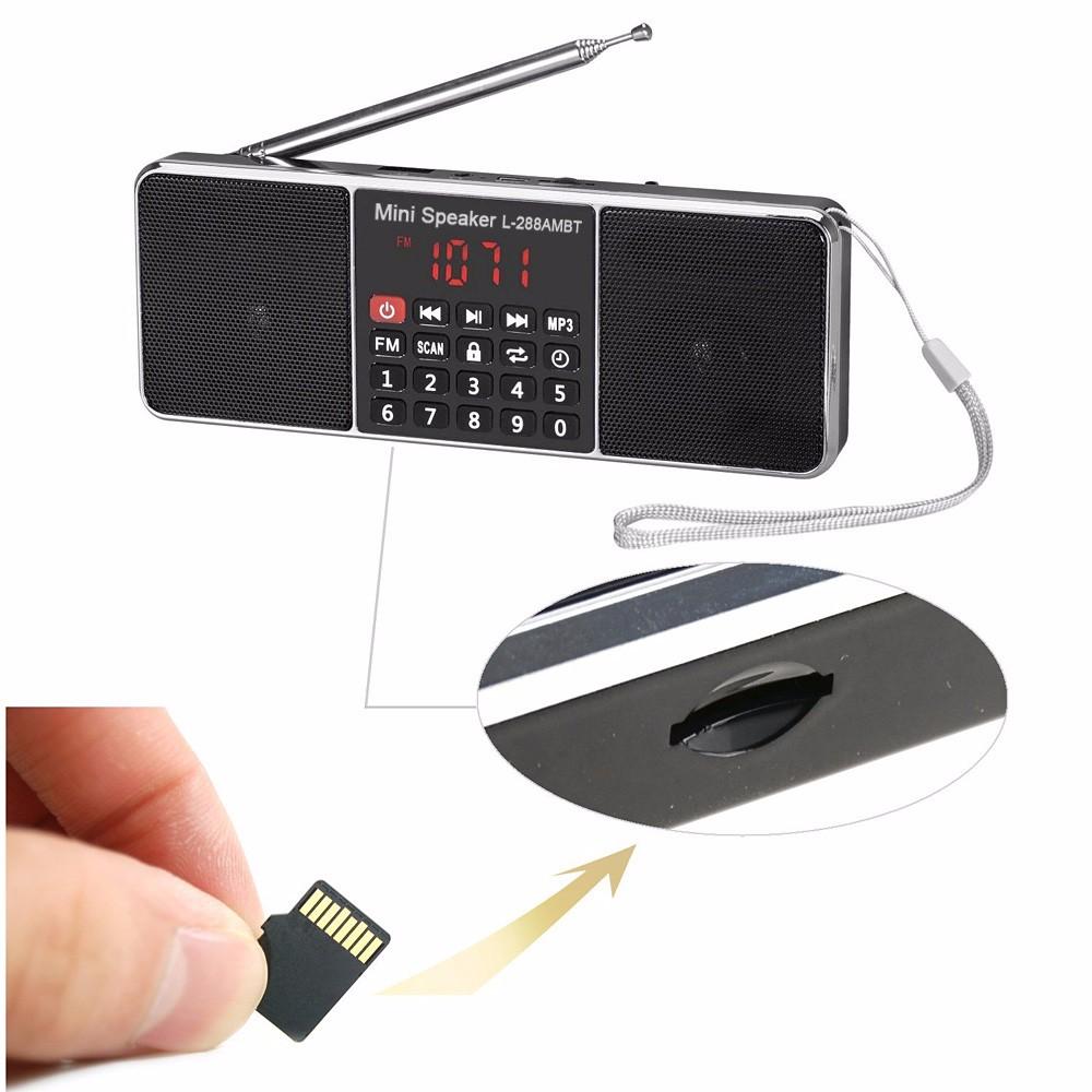 19bf99cbed78c ₪Função de Rádio AM FM Mini Portátil Recarregável Sem Fio Bluetooth ...