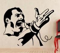 Freddie Mercury Wall Decal Rock Music Queen Vinyl Sticker ...