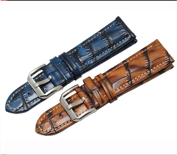 22mm Bracelet en Caoutchouc Noir Plongeur de Montre Boucle Déployante Iwc Haut
