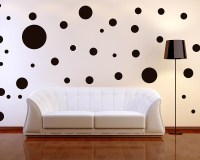 64pcs/lot 6Size mixed Polka Dots Wall Decal, Assorted Size ...