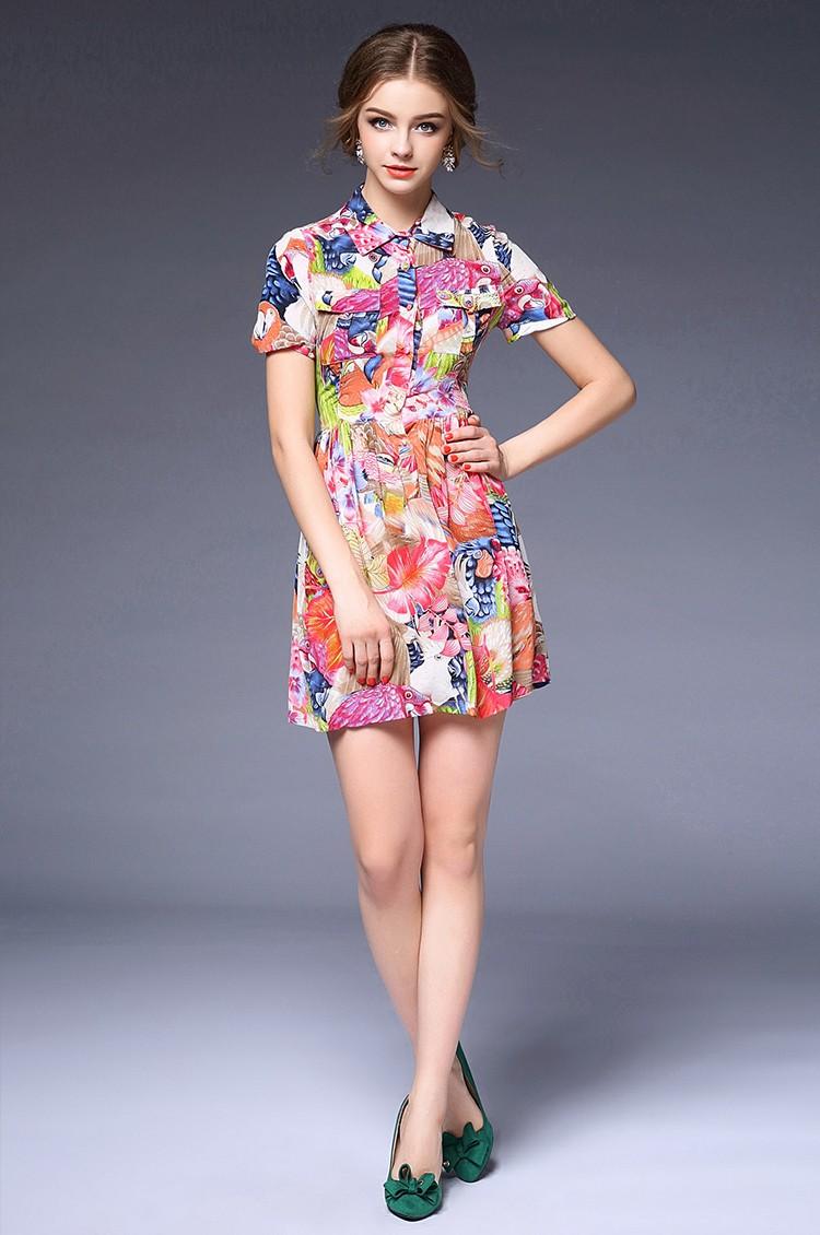 ୧ʕ ʔ୨2016 nuova primavera boutique delle donne eleganza fiore ... 858db736ce6