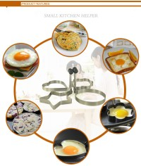 Stainless Steel Egg Mold Pancake Mould Ring Fried Cooking ...