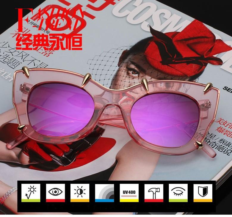 2a22f052e LONSY 2016 High Quality Sunglasses Women Big Transparent Frame Brand  Designer Vintage Sun Glasses Oculos De Sol Feminino