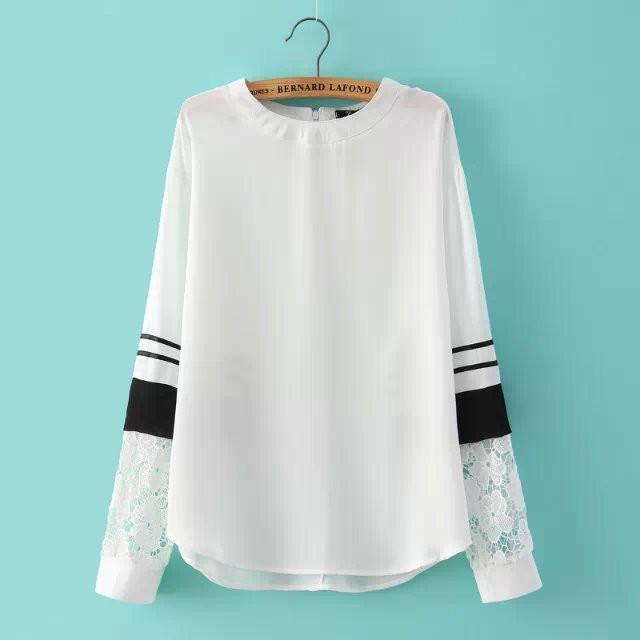 웃 유Top Design mujeres gasa blusa primavera Encaje costura camisa ...