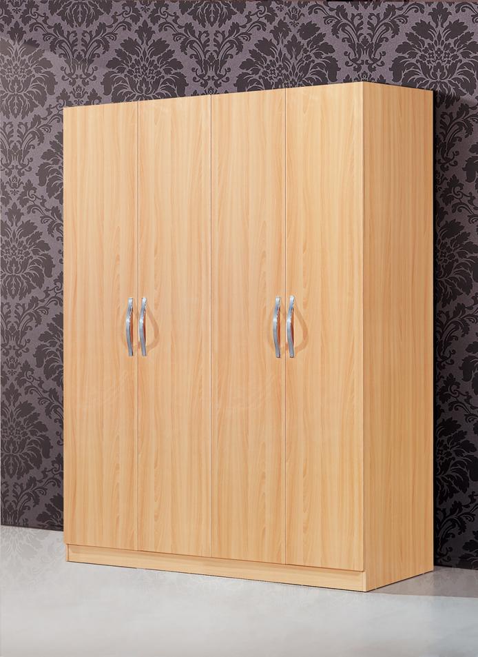 Mobilier de chambre pas cher simple armoire en bois grand panneau de type armoire placard dans