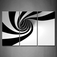 3 Piece Black And White Wall Art Painting Grey Black White ...
