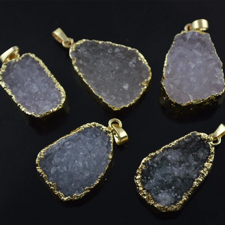 5PC bleu à la main pendentifs fleur perles Aile Bijoux Fashion