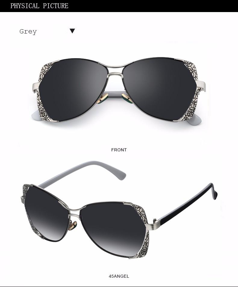 2f8e6953892e4f FEIDU Mode lunettes de Soleil Polarisées Femmes Alliage Motif Cadre Rétro  Revêtement Miroir Lunettes Femme Oculos De Sol Feminino Avec la Boîte.  6115. a