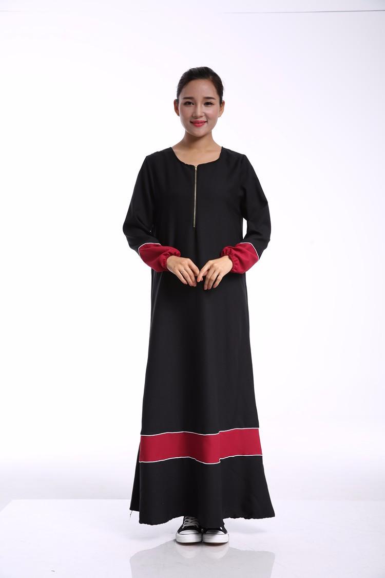 №Élégant mousseline de soie islamique abaya musulman femmes robe ... 417de11c0dc