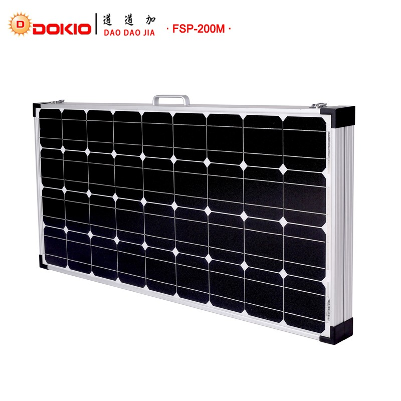 dokio marke 200 watt 2 st cke x 100 watt faltbare solar. Black Bedroom Furniture Sets. Home Design Ideas
