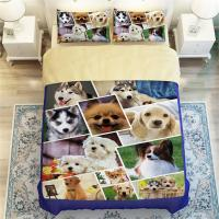 3D Animals Huskies/Beagles/Perky Pug Cute Dog Print