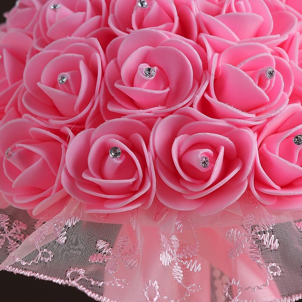 ᗑRamo de la boda 2017 en stock hecho a mano magnífico flores dama ...