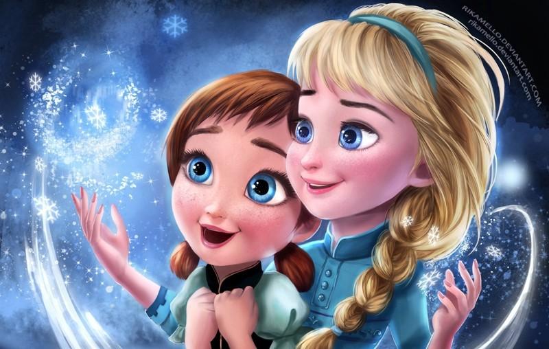 っ2 Piezas Muñecas De Frozen Elsa Y Anna Niñas Muñecas Bonecas Con