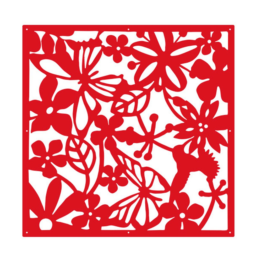 ᗕYazi 4 piezas Flor de mariposa colgante pantalla Panel divisor ...