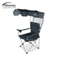 Portable fishing chair with sunshade, folding chair for ...