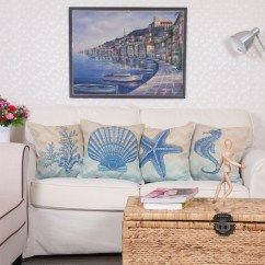 China Mall Chair Covers Dining Dublin Popular Seashell Throw Pillows-buy Cheap Pillows Lots From ...