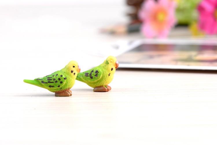 734dc16d0aea1 Papagaio Figuras de Animais Em Miniatura Estatueta mini fada do ...