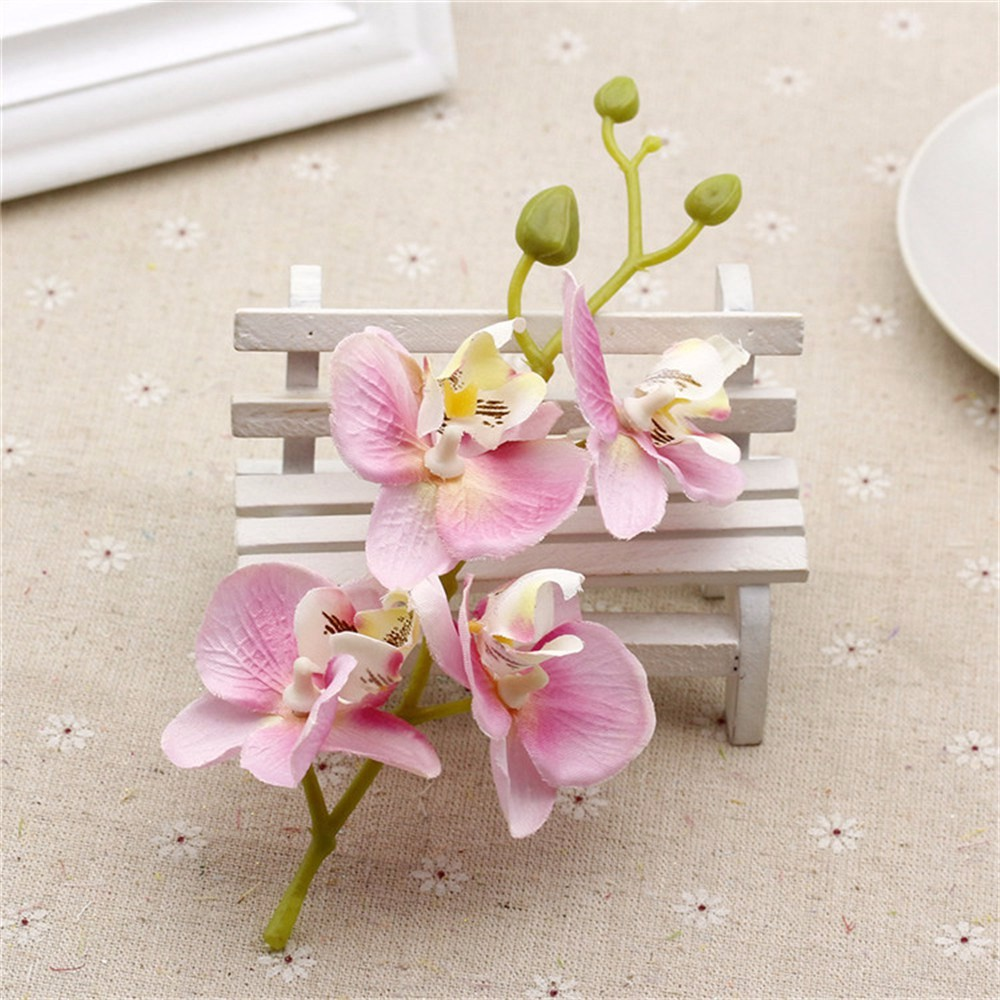 10pcs/lot Silk Artificial Orchid Bouquet For Home Wedding Party ...