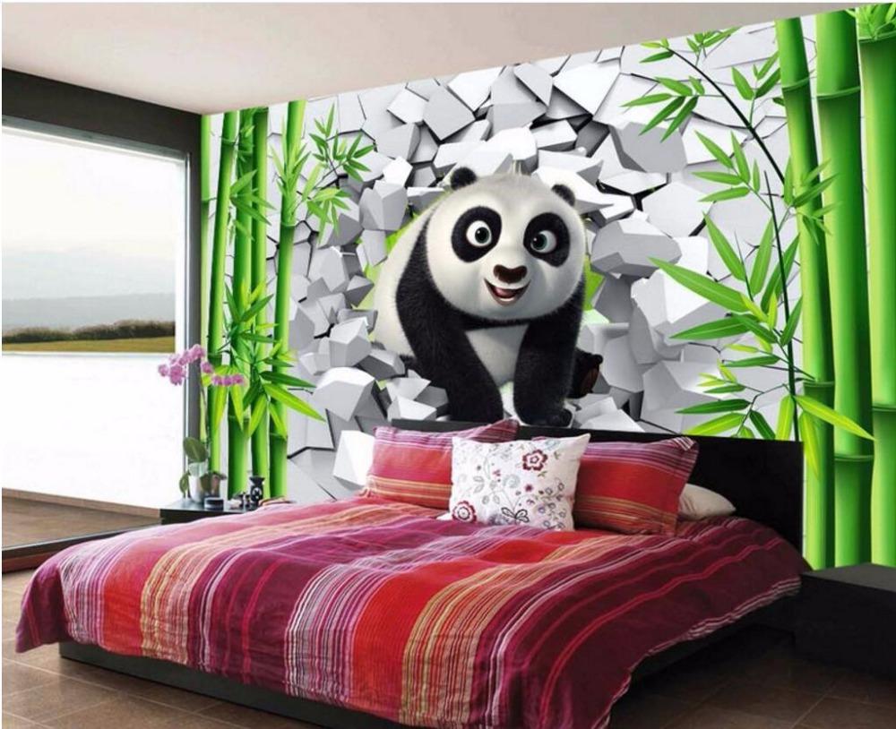 Beibehang Custom Wallpaper Mural 3d Cave Wall Cute Panda Bamboo Tv Lgs Slim Fit Youth Boy Follow Heart Hitam Xl Qq20170418001029 Qq20170418001039 Qq20170418001048 Qq20170418001059 Qq20170418001107 Qq20170418001115