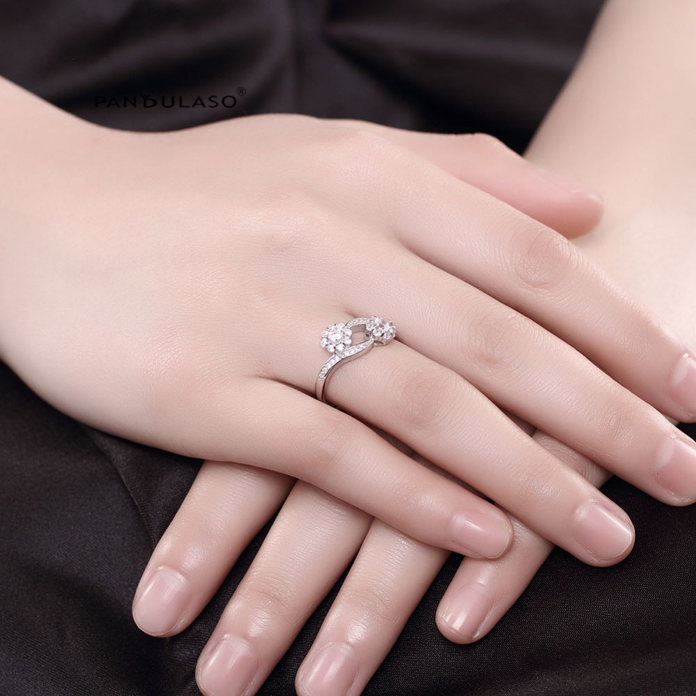 Little Bud With CZ Open-End Ring Sterling-Silver-Rings DIY Fashion ...